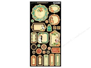 Craft Embellishments Weekly Specials: Graphic 45 Raining Cats & Dogs Journaling Chipboard