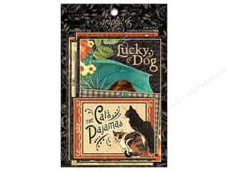 Graphic 45 Rain Cat&Dog Ephemera Cards