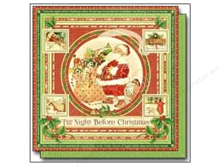 "Glitz Design Holiday Sale: Graphic 45 Twas The Night Before Christmas Paper 12""x 12"" (25 pieces)"