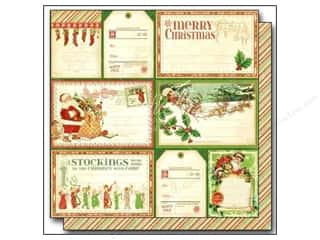 "Graphic 45 Clearance Crafts: Graphic 45 Twas The Night Before Christmas Paper 12""x 12"" Up On The Housetops (25 pieces)"