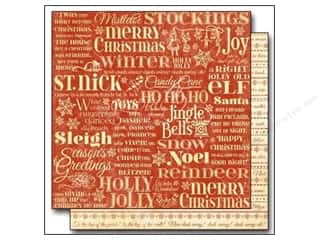 "Bells Red: Graphic 45 Twas The Night Before Christmas Paper 12""x 12"" Merry Mistletoe (25 pieces)"
