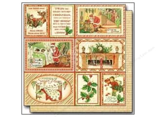"Graphic 45 Clearance Crafts: Graphic 45 Twas The Night Before Christmas Paper 12""x 12"" Long Winter's Nap (25 pieces)"