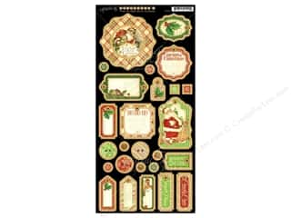 Captions Chipboard: Graphic 45 Twas The Night Before Christmas Chipboard Tags