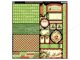 Graphic 45 Night/Christmas Sticker Cardstock