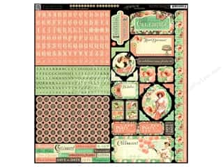Graphic 45 ABC & 123: Graphic 45 Time to Celebrate Sticker Cardstock