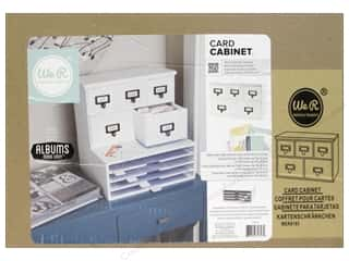 We R Memory Keepers Brown: We R Memory Organizer Albums Made Easy Card Cabinet