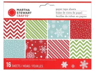 Measuring Tapes / Gauges $6 - $8: Martha Stewart Paper Tape Merry and Bright Washi Mat Pad