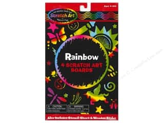 Novelty Items: Melissa & Doug Scratch Art Sheets Rainbow