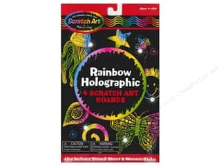 Novelty Items: Melissa & Doug Scratch Art Sheets Holographic Rainbow