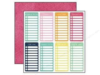 agenda blue & company: Echo Park 12 x 12 in. Paper Creative Agenda Collection Checklists (25 sheets)