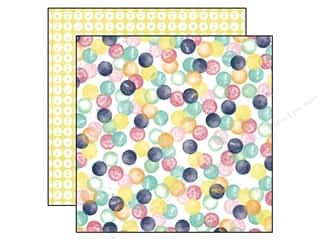 Push Pins Blue: Echo Park 12 x 12 in. Paper Creative Agenda Collection Watercolor Dots (25 pieces)