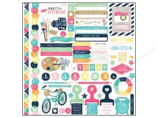 Handles Framing: Echo Park Creative Agenda Collection Stickers Elements (15 sets)
