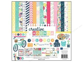 Push Pins Blue: Echo Park 12 x 12 in. Creative Agenda Collection Kit