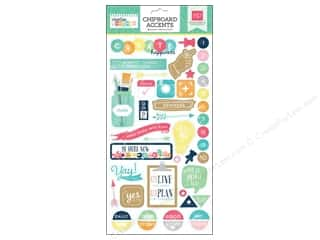 Push Pins Blue: Echo Park 6 x 12 in. Adhesive Chipboard Creative Agenda Collection