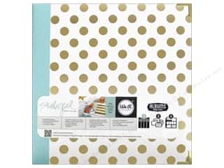 "Scrapbook / Photo Albums Hot: We R Memory Album Studio Gold Teresa Collins 8.5""x 11"" Dot"