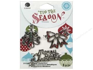 Cousin Season Christmas Connectors Bow/Tree Silver