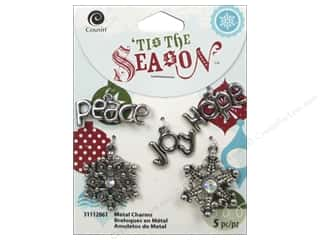 Cousin Season Christmas Charm Snowflake/Words