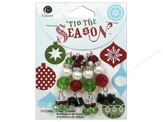 Glass Christmas: Cousin Tis The Season Christmas 2014 Charm Glass Santa/Elf