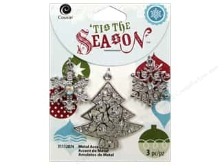 Cousin Season Christmas Charm Tree/Snowflake Silvr