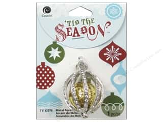 Cousin Season Christmas Accent Cage Silver/Gold