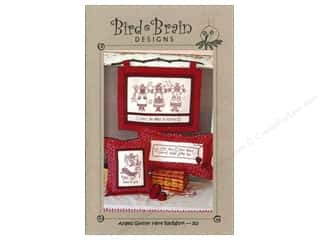 Bird Brain Design $9 - $10: Bird Brain Designs Angels Gather Here Redwork Pattern