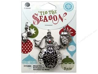 Charms Christmas: Cousin Tis The Season Christmas 2014 Charm Metal Snowman/Mitten Silver