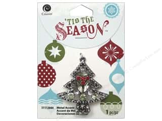 Cousin Season Christmas Accent Metal/Crystal Tree
