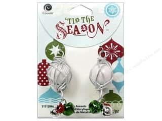 Cousin Season Christmas Drop Bell Silver/White