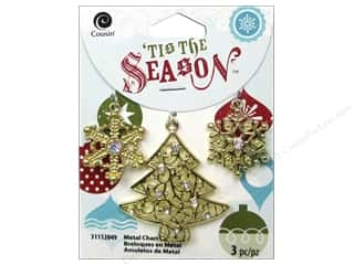 Cousin Season Christmas Charm Tree/Snowflake Gold