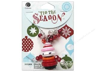 Cousin Season Christmas Accent Button Santa Red