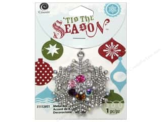 Charms and Pendants Hot: Cousin Tis The Season Christmas 2014 Accent Metal Snowflake Silver