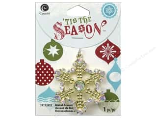 Cousin Season Christmas Accent Snowflake Gold