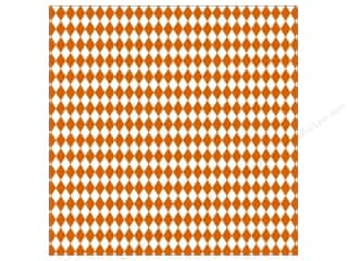 Halloween Paper Punches: Canvas Corp 12 x 12 in. Paper Orange & White Diamond (15 pieces)