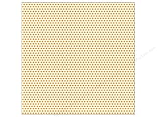 Canvas Corp 12 x 12 in. Paper Orange & Ivory Mini Dots (15 piece)