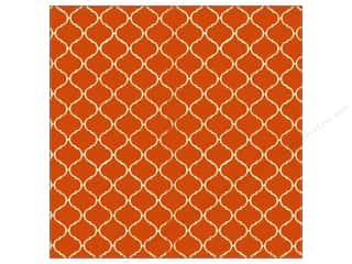 Halloween Paper Punches: Canvas Corp 12 x 12 in. Paper Orange & Ivory Tile Reverse (15 pieces)