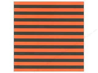 Halloween Papers: Canvas Corp 12 x 12 in. Paper Halloween Stripe on White (15 pieces)