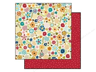 Fall / Thanksgiving Floral Arranging: Bella Blvd 12 x 12 in. Paper Hello Autumn Autumn Floral (25 pieces)