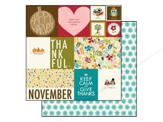 Autumn Leaves paper dimensions: Bella Blvd 12 x 12 in. Paper Hello Autumn Daily Details (25 pieces)