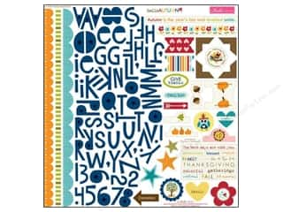 Tags Fall / Thanksgiving: Bella Blvd Stickers Hello Autumn Treasures & Text (12 pieces)