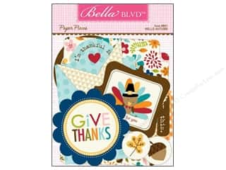 Autumn Leaves paper dimensions: Bella Blvd Die Cut Paper Pieces Hello Autumn
