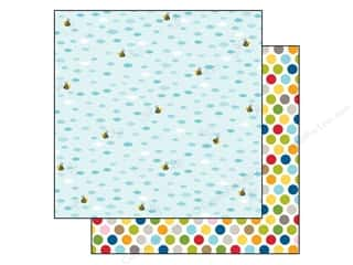 Baby Black: Bella Blvd 12 x 12 in. Paper Tiny Tots Busy Bee (25 pieces)