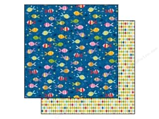Bella Blvd 12 x 12 in. Paper Tiny Tots One Fish Two Fish (25 piece)