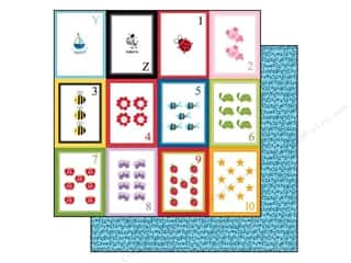 Note Cards ABC & 123: Bella Blvd 12 x 12 in. Paper Tiny Tots Flashcards YZ123 (25 pieces)