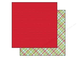 Plaid Burgundy: Bella Blvd 12 x 12 in. Paper Christmas Cheer Jingle All The Way (25 pieces)