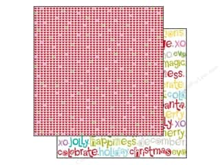 Bella Blvd 12 x 12 in. Paper Christmas Cheer Happy Hearts (25 piece)
