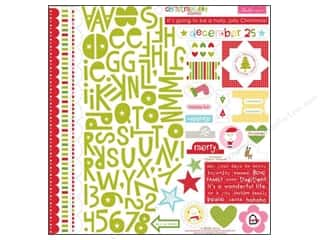 Christmas ABC & 123: Bella Blvd Stickers Christmas Cheer Treasures & Text (12 pieces)