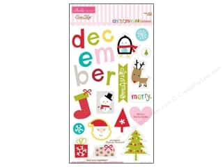 Chipboard Christmas: Bella Blvd Chipboard Icons Christmas Cheer