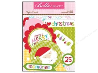 Paper Pieces paper dimensions: Bella Blvd Die Cut Paper Pieces Christmas Cheer