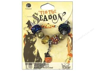 Halloween Beading & Jewelry Making Supplies: Cousin Tis The Season Halloween 2014 Bead Metal/Glass Pumpkin