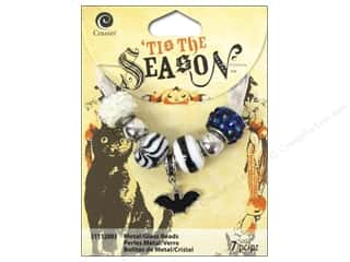 Cousin Season Halloween Bead Metal/Glass Bat